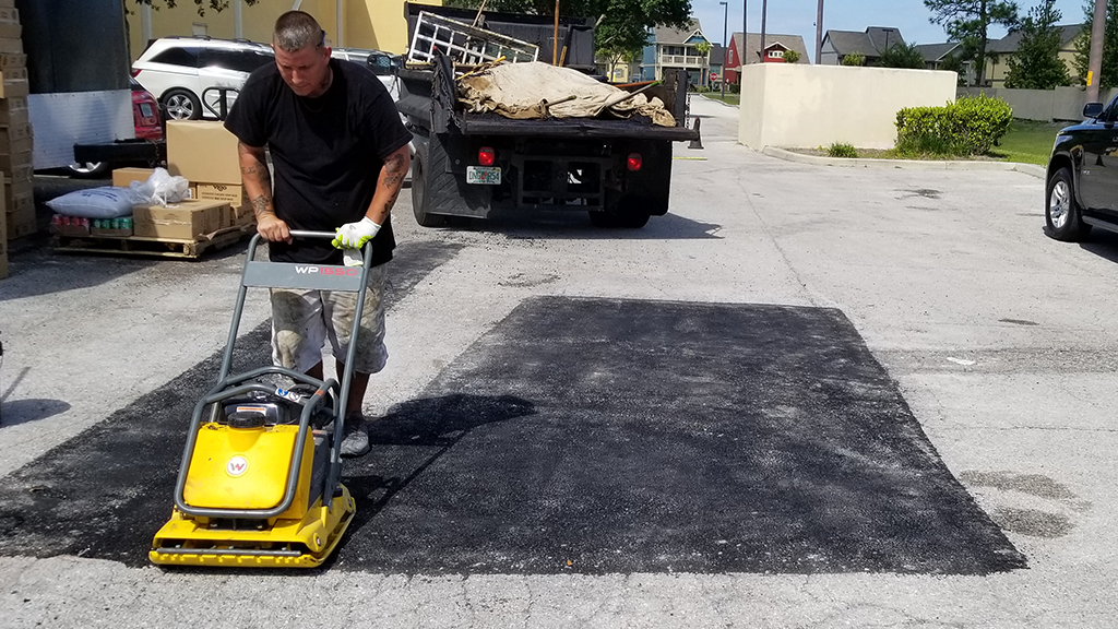 Image of Asphalt Repair and Patch by All Florida Striping and Sealcoating